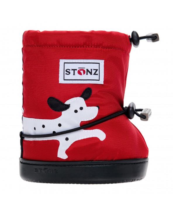 DETSKÉ OUTDOOR CAPAČKY Toddler Booties - Dalmatin Red Toddler Booties Stonz®