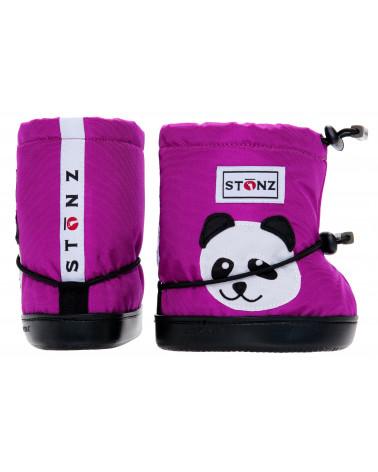DETSKÉ OUTDOOR CAPAČKY Toddler Booties - Panda Magenta Toddler Booties Stonz®