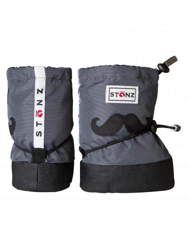 DETSKÉ OUTDOOR CAPAČKY Baby Booties - Moustache Grey Baby Booties Stonz®