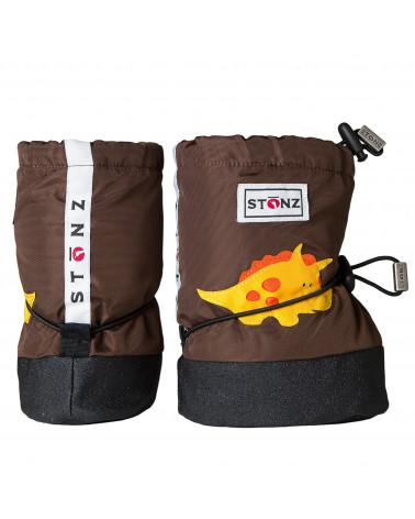 DETSKÉ OUTDOOR CAPAČKY Baby Booties - Triceratops Brown Baby Booties Stonz®
