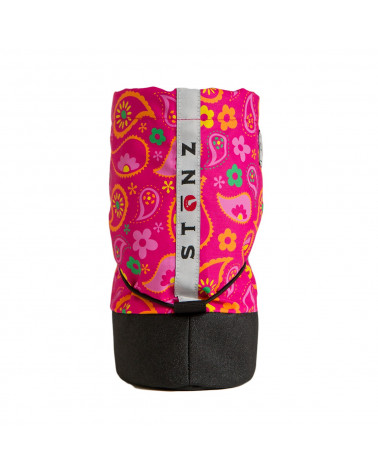 DETSKÉ OUTDOOR CAPAČKY Baby Booties - Paisley Pink Fuchsia Baby Booties Stonz®
