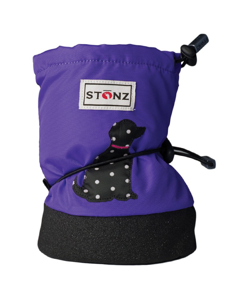 DETSKÉ OUTDOOR CAPAČKY Baby Booties - Polka Dog Purple Baby Booties Stonz®