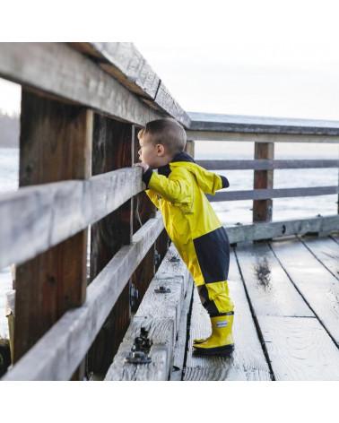 DETSKÁ VIACÚČELOVÁ OUTDOOR KOMBINÉZA – Yellow Pršiplášte Stonz®