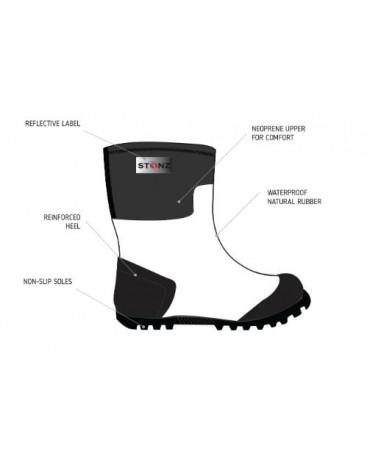 DETSKÉ NEOPRÉNOVÉ ČIŽMY WEST - Polka Dot Celoročné topánky West Stonz®