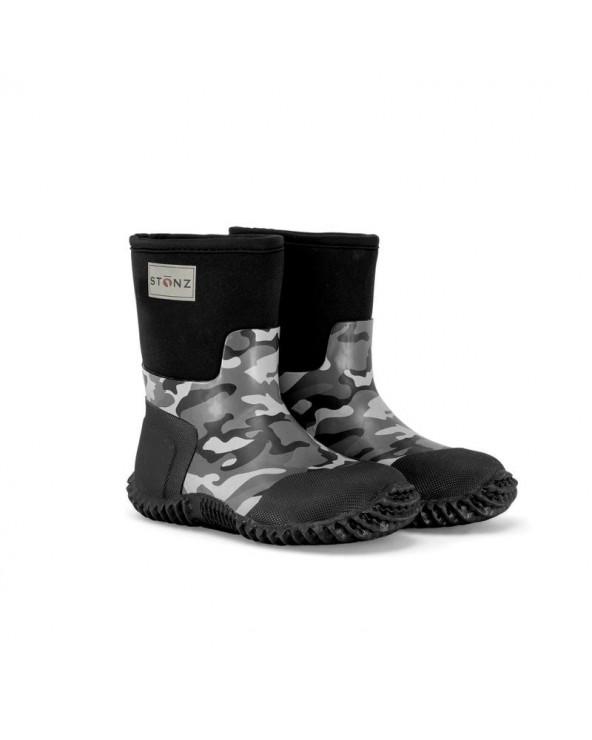 DETSKÉ NEOPRÉNOVÉ ČIŽMY WEST - Camo Celoročné topánky West Stonz®