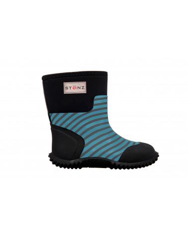 DETSKÉ NEOPRÉNOVÉ ČIŽMY WEST - Stripes Blue Celoročné topánky West Stonz®