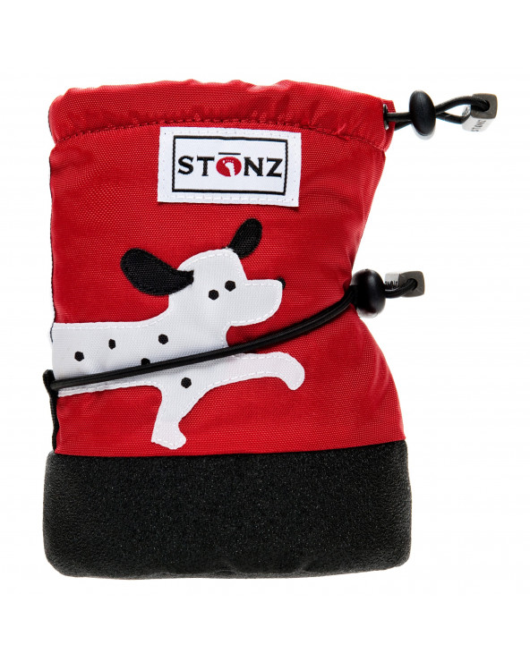 DETSKÉ OUTDOOR CAPAČKY - Dalmatin Red Baby Booties Stonz®