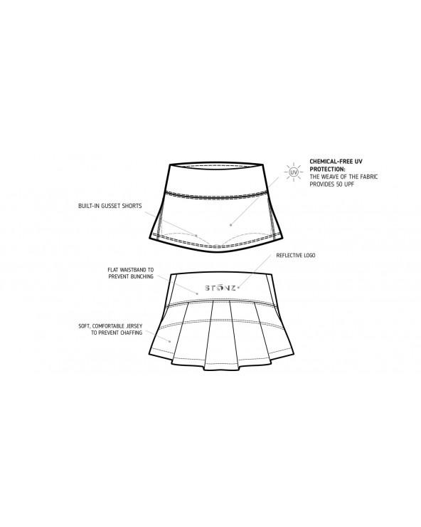 DETSKÁ SUKŇA 2v1 S UV OCHRANOU - Fuchsia Shark Sukne Stonz®