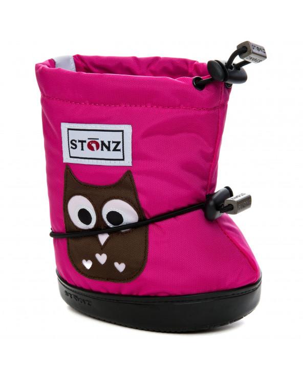 DETSKÉ OUTDOOR CAPAČKY Toddler Booties - Owl Fuchsia Toddler Booties Stonz®
