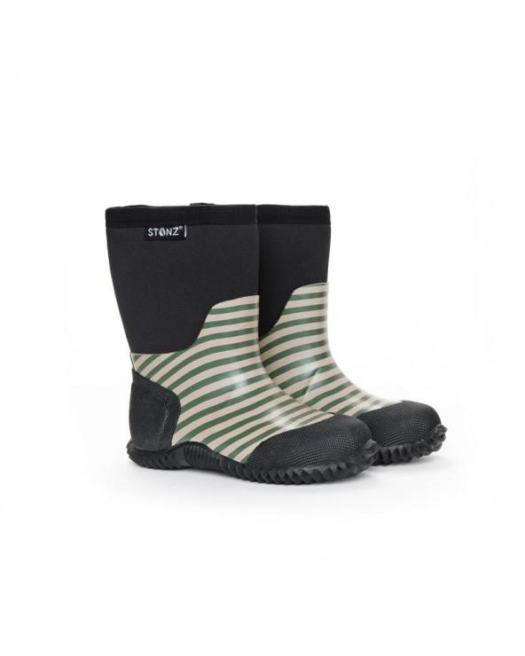 DETSKÉ NEOPRÉNOVÉ ČIŽMY WEST - Stripes Cypress & Sage Celoročné topánky West Stonz®