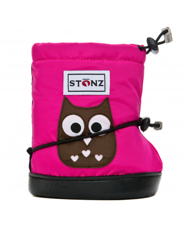 DETSKÉ OUTDOOR CAPAČKY - Owl Fuchsia Toddler Booties Stonz®