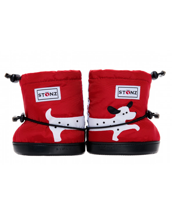 DETSKÉ OUTDOOR CAPAČKY Toddler Booties - Dalmatin Red Toddler Booties Stonz®
