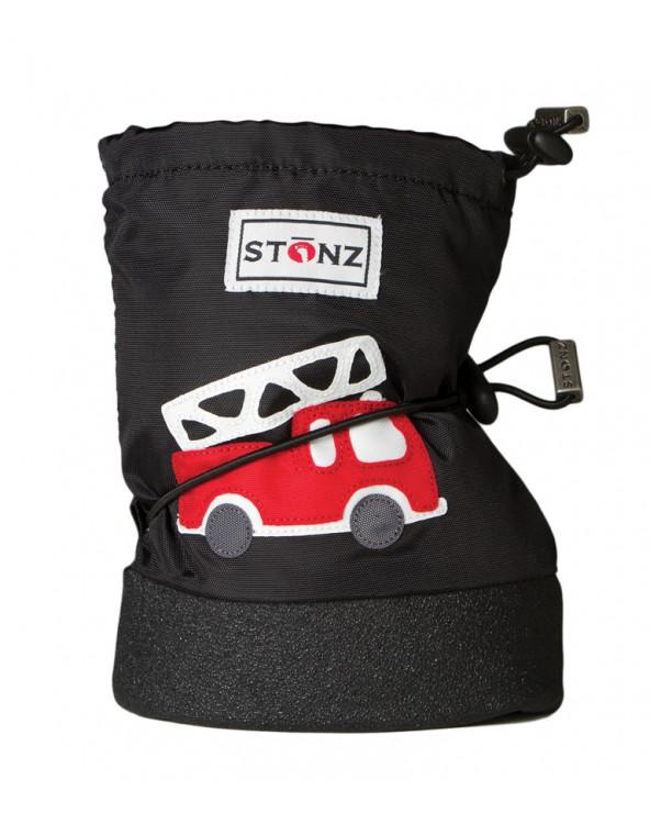 DETSKÉ OUTDOOR CAPAČKY Baby Booties - Fire Truck Black Baby Booties Stonz®