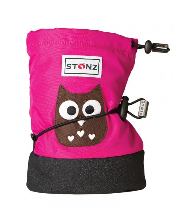 DETSKÉ OUTDOOR CAPAČKY - Owl Fuchsia Baby Booties Stonz®
