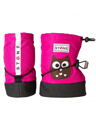 DETSKÉ OUTDOOR CAPAČKY Baby Booties - Owl Fuchsia Baby Booties Stonz®
