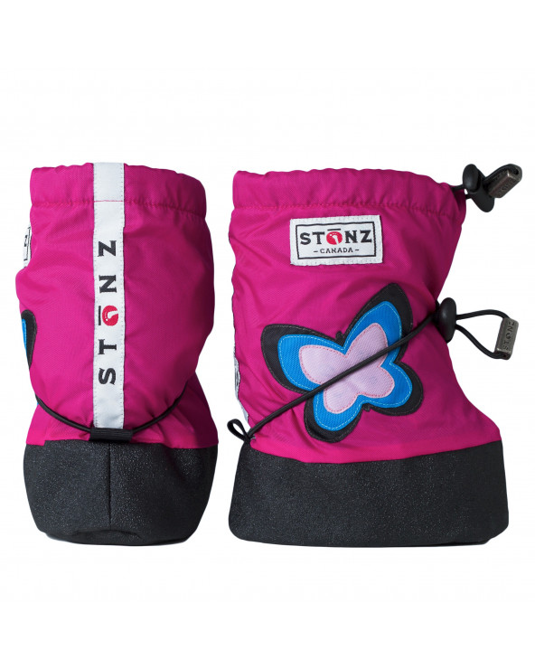 DETSKÉ OUTDOOR CAPAČKY Baby Booties - Butterfly Fuchsia Baby Booties Stonz®