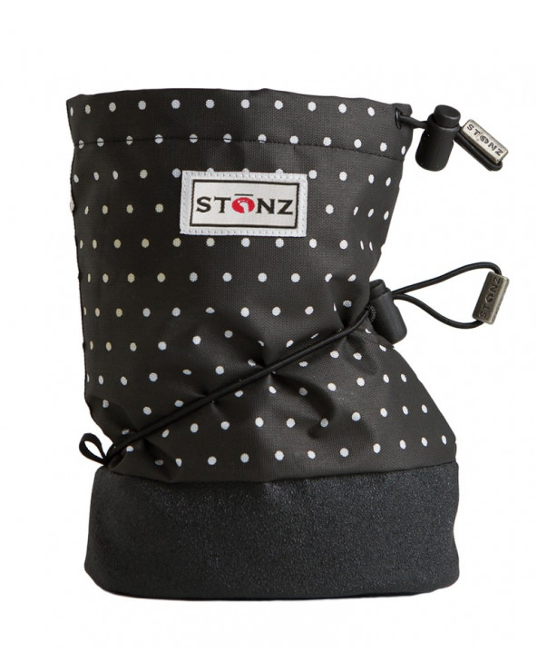 DETSKÉ OUTDOOR CAPAČKY - Polka Dot Black&White Baby Booties Stonz®