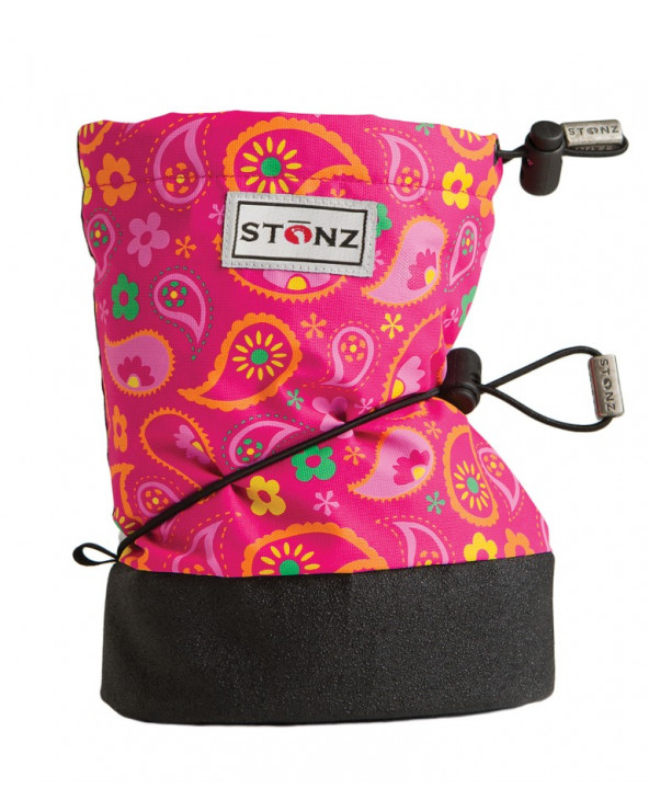 DETSKÉ OUTDOOR CAPAČKY - Paisley Pink Fuchsia Baby Booties Stonz®