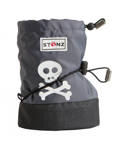 DETSKÉ OUTDOOR CAPAČKY Baby Booties - Skull&Crossbones Grey Baby Booties Stonz®