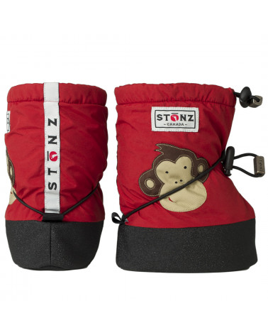 DETSKÉ OUTDOOR CAPAČKY Baby Booties - Monkey Brick Red Baby Booties Stonz®